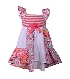 Bonnie Jean® Baby Girls' Poplin Flutter Sleeve Dress