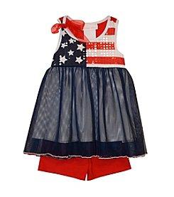 Bonnie Jean® Baby Girls' Star Spangled Flag Short Set