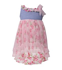 Bonnie Jean® Baby Girls' Floral High-Low Skirted Dress
