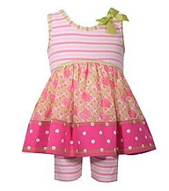 Bonnie Jean® Girls' 2T-4T Striped Knit Dress And Shorts Set