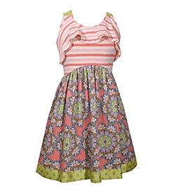 Bonnie Jean® Girls' 4-6X Ruffle Neckline Dress