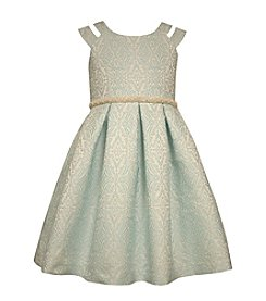 Bonnie Jean® Girls' 2T-4T Metallic Dress With Jacquard Waistline