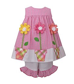 Bonnie Jean® Girls' 2T-4T Seersucker Check Dress Set