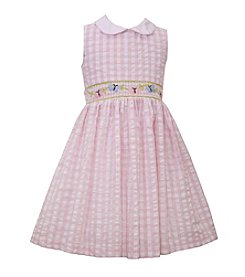 Bonnie Jean® Girls' 4-6X Seersucker Dress With Floral Waistline