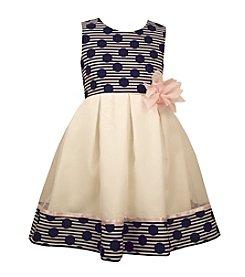 Bonnie Jean® Girls' 4-6X Dots And Stripe Printed Dress