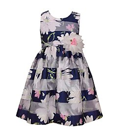 Bonnie Jean® Girls' 4-6X Mixed Floral And Stripe Printed Dress