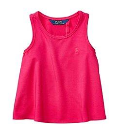 Polo Ralph Lauren® Girls' 2T-6X Solid Jersey Tank Top