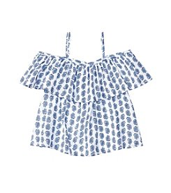 Polo Ralph Lauren® Girls' 2T-6X Cold Shoulder Paisley Top