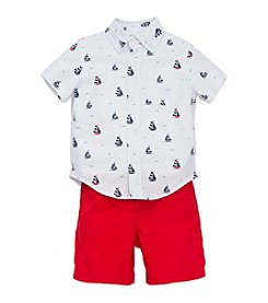 Little Me® Baby Boys Sailboat Shirt And Shorts Set