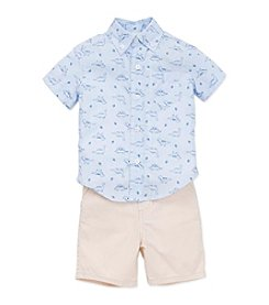 Little Me® Baby Boys Dino Shirt And Shorts Set