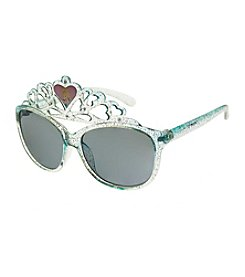 Riviera® Girls' Glitter Princess Crown Sunglasses