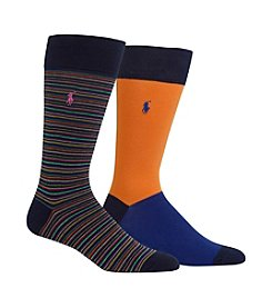 Polo Ralph Lauren® Men's Multi Stripe 2-Pack Socks
