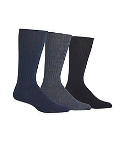 Chaps® Solid True Rib Crew Socks
