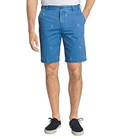 Izod® Men's Flat Front Beachtown Flamingo Shorts