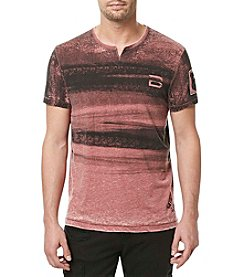 Buffalo by David Bitton Men's Tinat Short Sleeve Notch Neck Tee