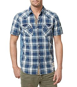 Buffalo by David Bitton Men's Simila Short Sleeve Plaid Woven Shirt