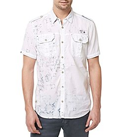 Buffalo by David Bitton Men's Silaky Short Sleeve Printed Woven Shirt
