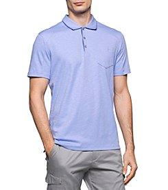 Calvin Klein Men's Short Sleeve Slub Interlock Polo