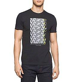 Calvin Klein Men's Short Sleeve Solid Pixel Printed Tee