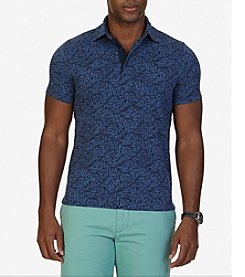 Nautica® Men's Slim Fit Leaf Print Polo Shirt