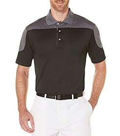 PGA TOUR® Men's Big & Tall Performance Colorblocked Heather Polo Shirt