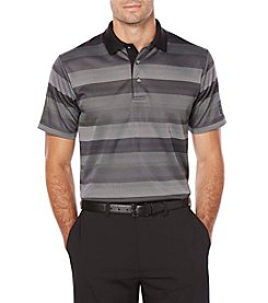 PGA TOUR Men's Big & Tall Short Sleeve Golf Performance Striped Jacquard Polo Shirt