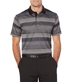 PGA TOUR Men's Big & Tall Short Sleeve Golf Performance Striped Jacquard Polo Shirt