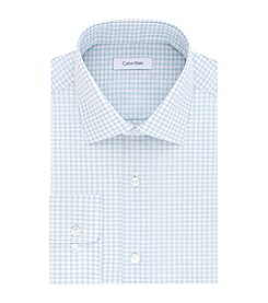 Calvin Klein Men's Long Sleeve Regular Fit Gingham Dobby Dress Shirt