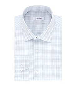 Calvin Klein Men's Long Sleeve Regular Fit Multi Grid Dress Shirt