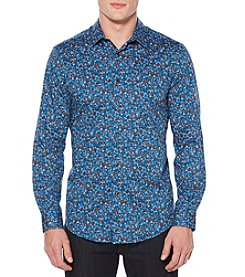 Perry Ellis® Men's Long Sleeve Printed Poppy Shirt