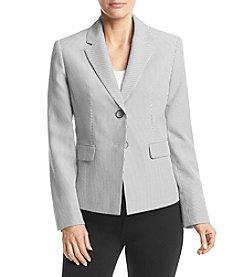 Kasper® Pinstripe Two Button Jacket