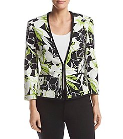 Kasper® Abstract Floral Printed Jacket