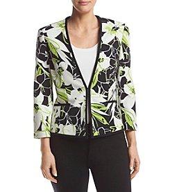Kasper® Abstract Floral Printed Jacket