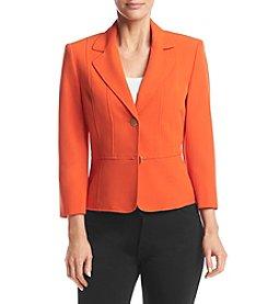 Kasper® Crepe Two Button Jacket