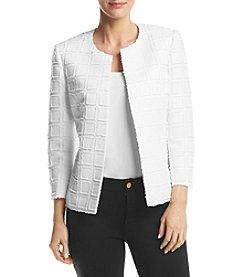Kasper® Textured Novelty Flyaway Jacket