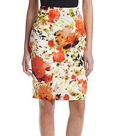 Kasper® Printed Zeo Scuba Skirt