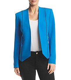 Kasper® Contrast Piping Jacket