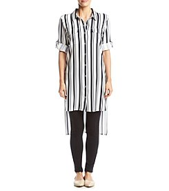 Calvin Klein Striped Roll Sleeve Tunic