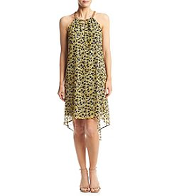 MICHAEL Michael Kors® Chain Neck Floral Pritned Dress