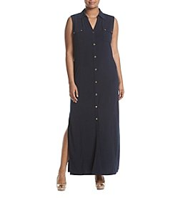 MICHAEL Michael Kors® Plus Size Maxi Shirt Dress