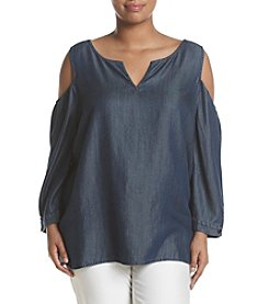 NYDJ® Plus Size Agnes Cold Shoulder Blouse