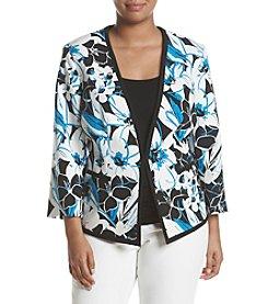 Kasper® Plus Size Floral Printed Jacket