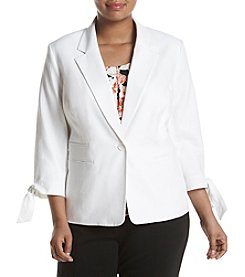 Nine West® Plus Size Tie Cuff Jacket