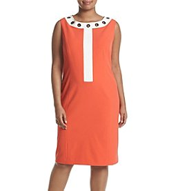 Nine West® Plus Size Grommet Neckline Dress