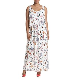 Nine West® Plus Size Floral Printed Maxi Dress