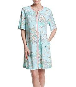 Miss Elaine® Printed Zip Front Robe