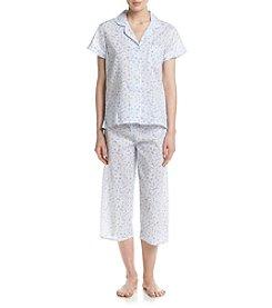 Miss Elaine® Daisy Printed Pajama Set