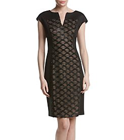 Connected® Sequin Panel Front Dress