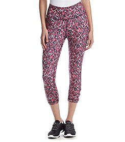 Exertek® Printed Lattice Cropped Leggings
