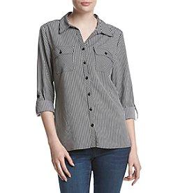 Studio Works® Stripe Printed Shirt